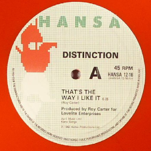 Distinction That's the way I like it
